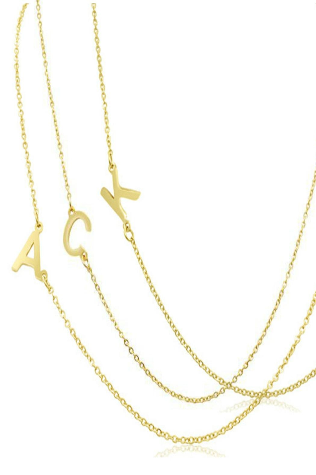 6th Borough Boutique Gold Initial Necklace - Back Cropped Image