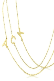 6th Borough Boutique Gold Initial Necklace - Back cropped