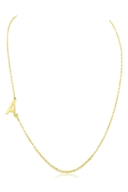 6th Borough Boutique Gold Initial Necklace - Front cropped