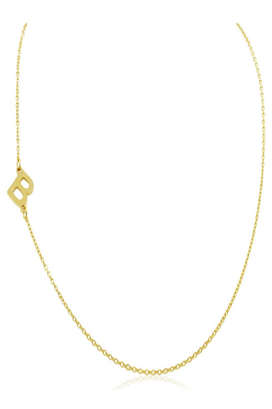 6th Borough Boutique Gold Initial Necklace - Front Full Image