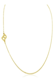 6th Borough Boutique Gold Initial Necklace - Front full body