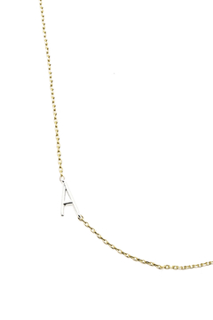 Cool and Interesting Gold Initial Silver Chain Choker - Product List Image