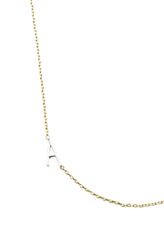 Cool and Interesting Gold Initial Silver Chain Choker - Product Mini Image