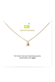 Cool and Interesting Gold Initial W/ Pearl Necklace - Side cropped