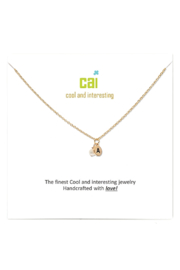 Cool and Interesting Gold Initial W/ Pearl Necklace - Product Mini Image