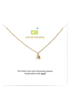 Cool and Interesting Gold Initial W/ Pearl Necklace - Alternate List Image