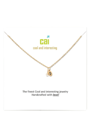 Cool and Interesting Gold Initial W/ Pearl Necklace - Back cropped