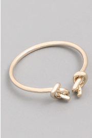 Runway & Rose Gold Knot Ring - Front cropped