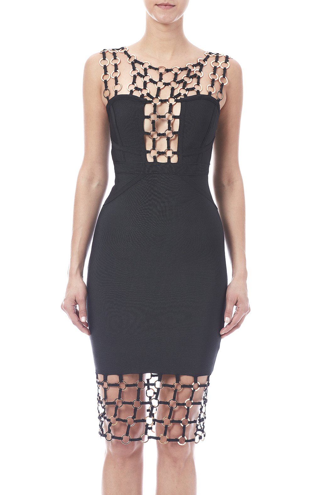 gold label grommet detail dress from new york city by dor