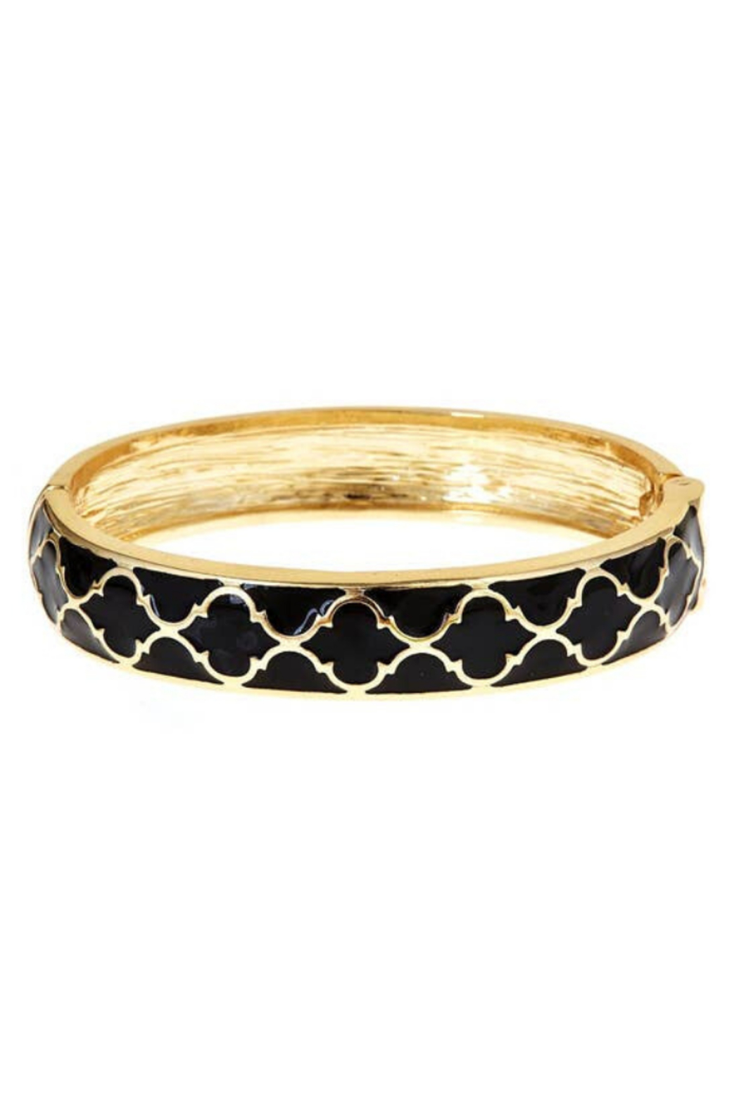 Fornash Gold Lattice Enamel Bracelet - Main Image