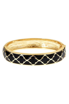 Fornash Gold Lattice Enamel Bracelet - Alternate List Image