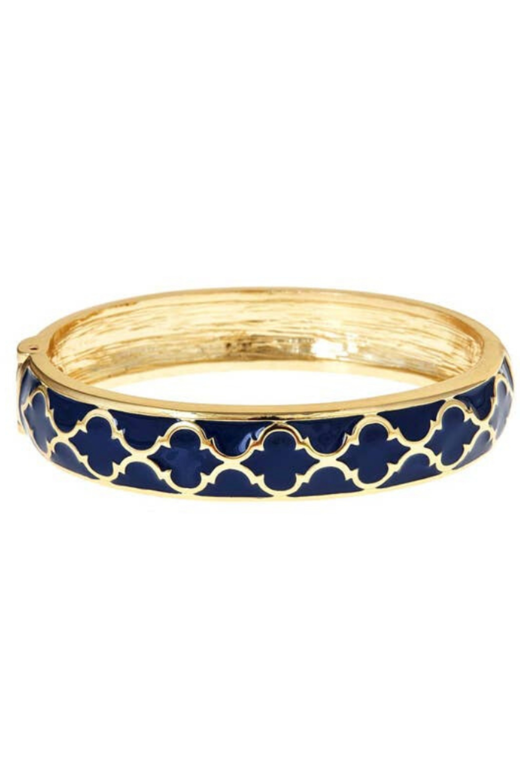 Fornash Gold Lattice Enamel Bracelet - Front Cropped Image