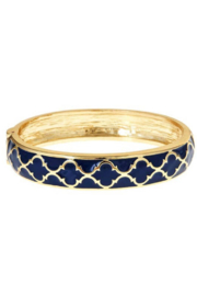 Fornash Gold Lattice Enamel Bracelet - Front cropped