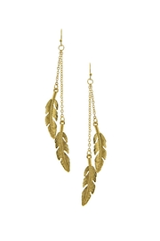 Wild Lilies Jewelry  Gold Leaf Earrings - Product Mini Image