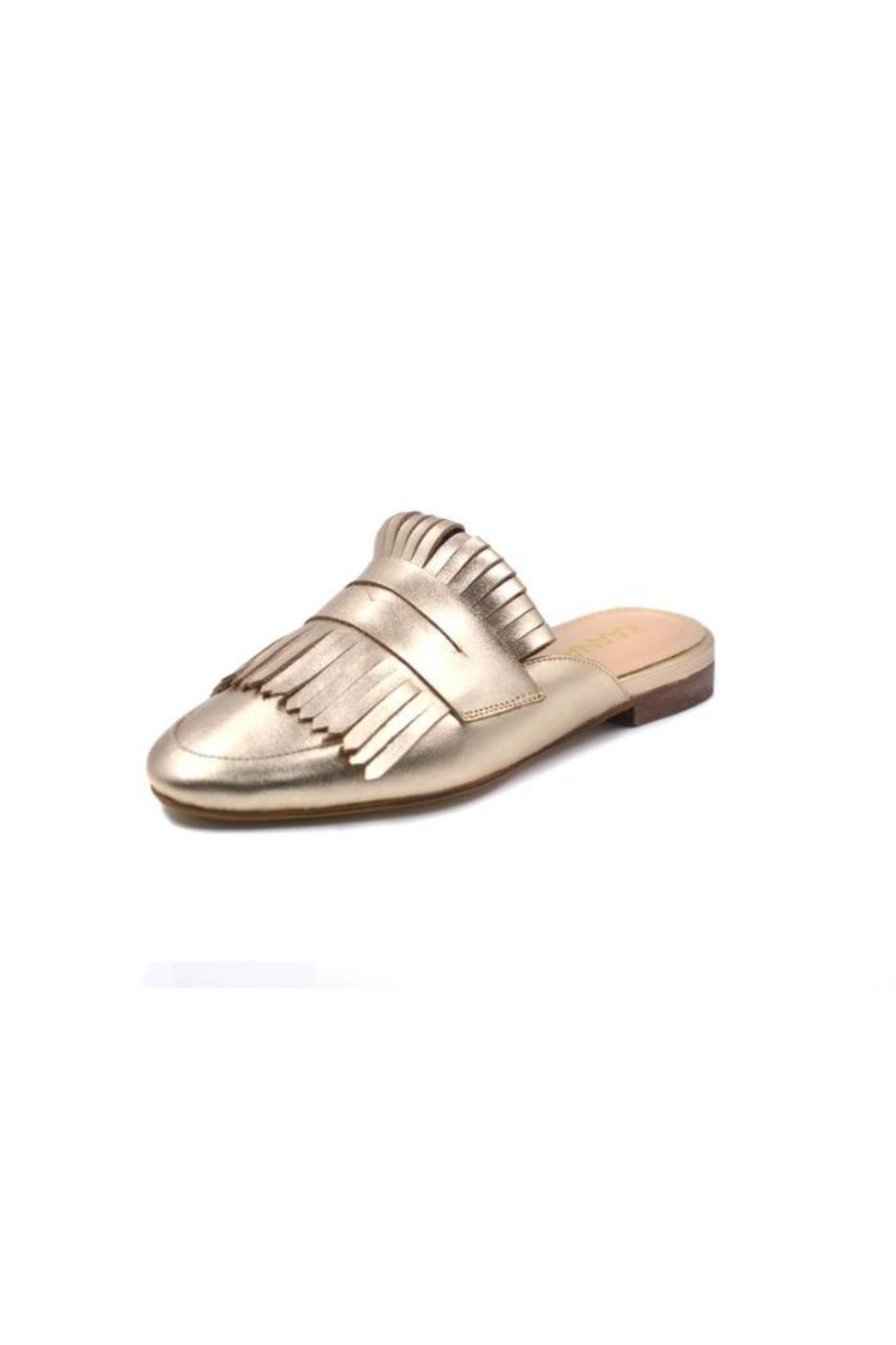 Kaanas Gold Loafer Mule - Front Full Image