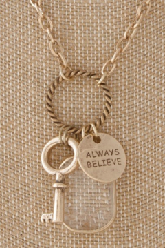 Back in Love Gold  long charm necklace Always Believe - Alternate List Image