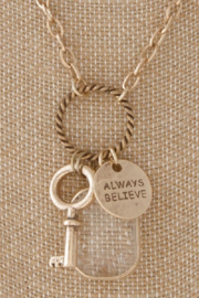 Back in Love Gold  long charm necklace Always Believe - Product Mini Image