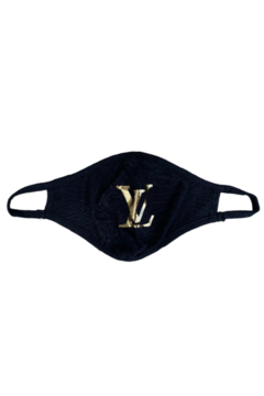 Bedford Basket Gold Louis Vuitton Inspired Face Mask - Alternate List Image