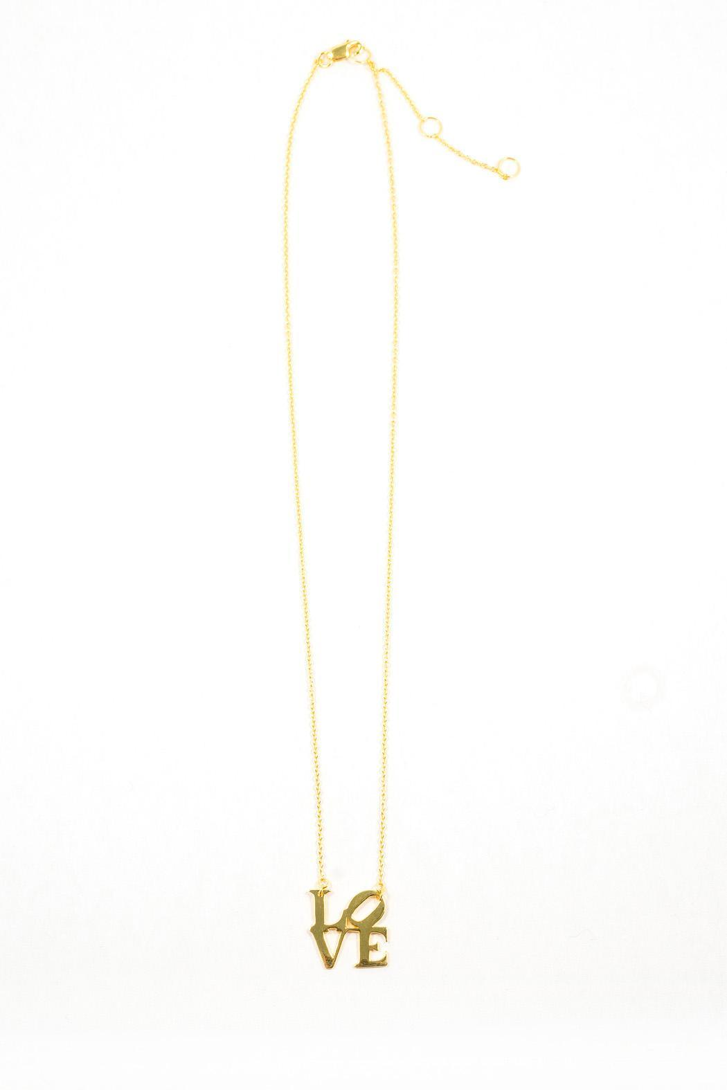 Gold Love Necklace - Front Full Image
