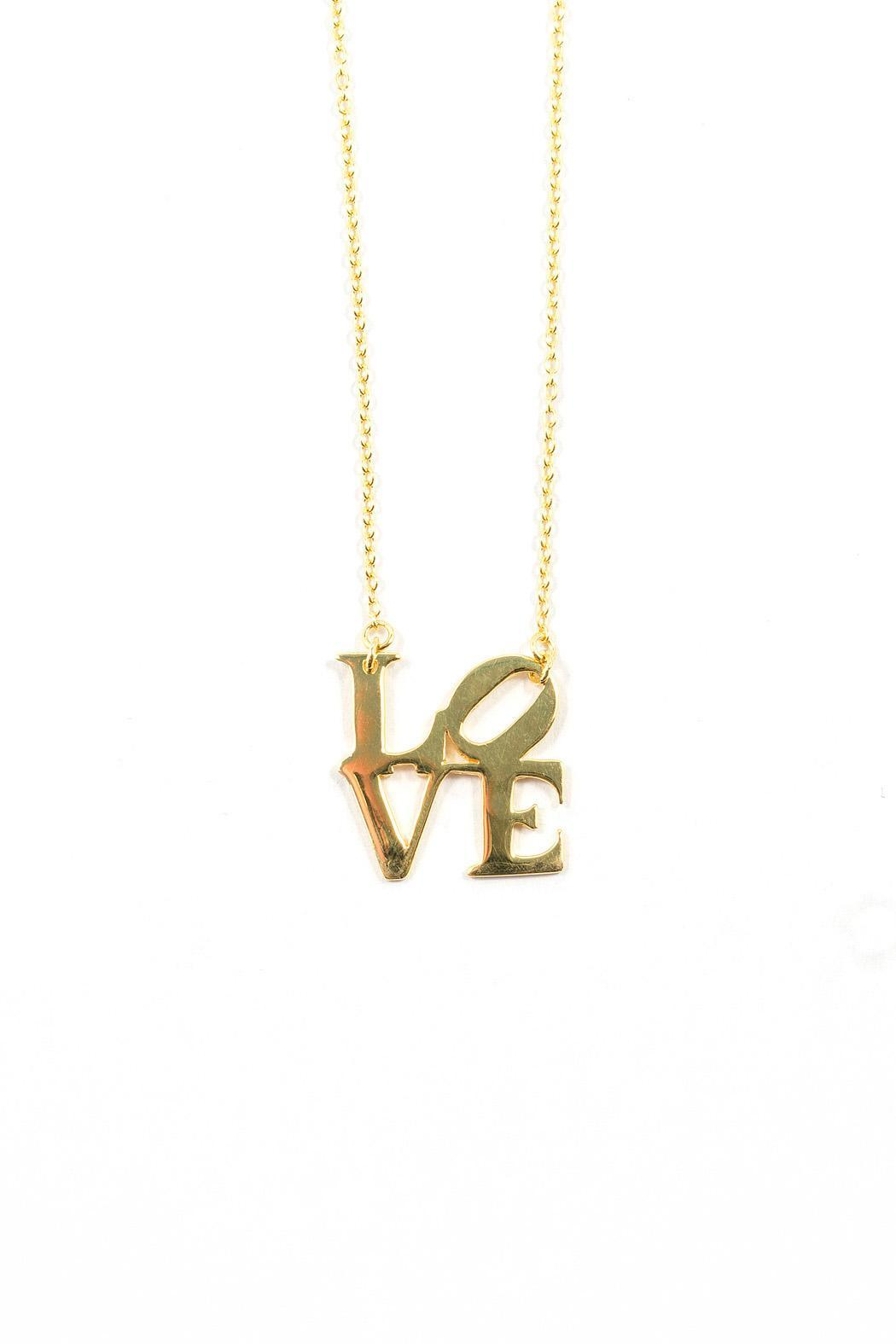 Gold Love Necklace - Main Image