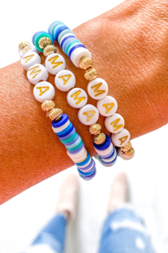 Savvy Bling Gold Mama Word Heishi Bracelet - Product List Image
