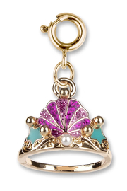 Charm It Gold Mermaid Tiara Charm - Front cropped