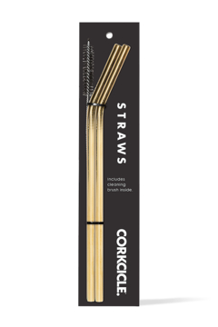 Corkcicle GOLD METAL TUMBLER STRAW - 2 PACK - Product List Image