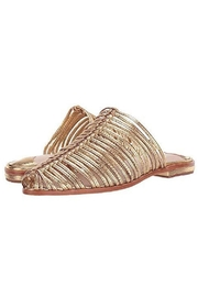 Cecelia New York Gold Metallic Mules - Front full body