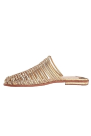 Cecelia New York Gold Metallic Mules - Front cropped