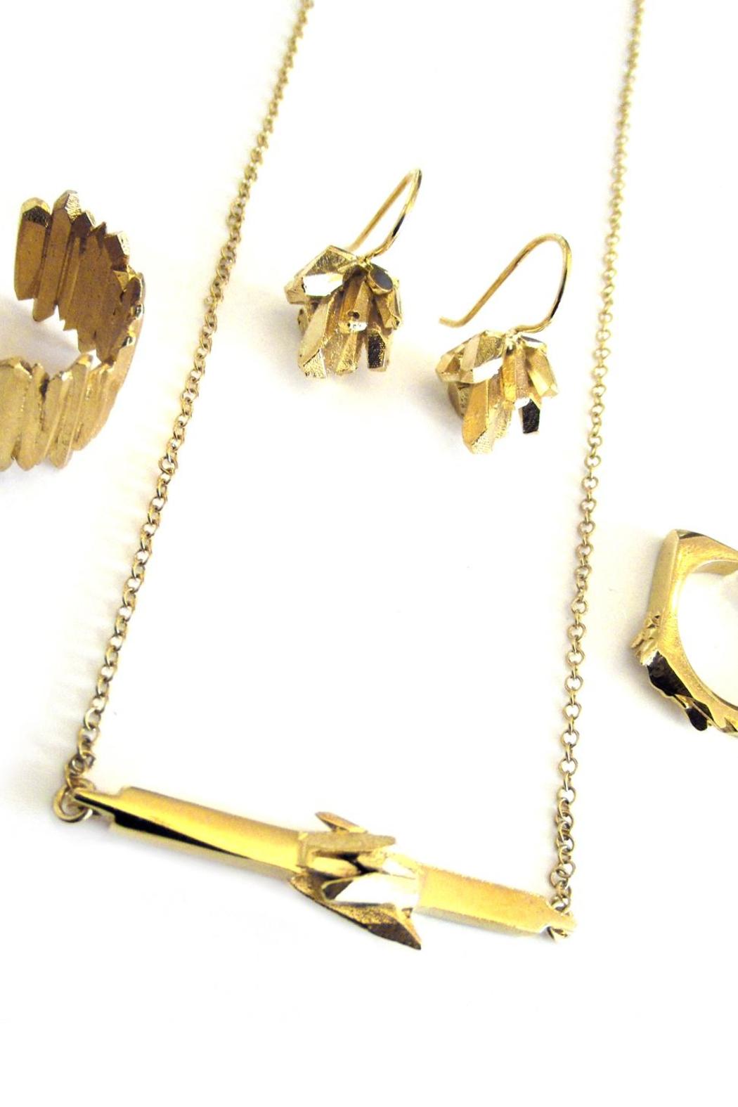 Malia Jewelry Gold Mineral Necklace - Side Cropped Image