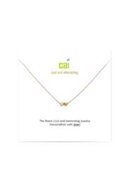 Cool and Interesting Gold Mini Heart Birthstone Necklace - Product Mini Image