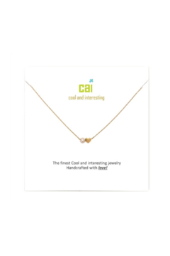 Cool and Interesting Gold Mini Heart Birthstone Necklace - Alternate List Image
