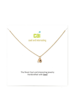 Cool and Interesting Gold Mini initial & pearl necklace - Alternate List Image