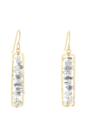 Lotus Jewelry Studio Gold Moon Dust Earring - Product Mini Image