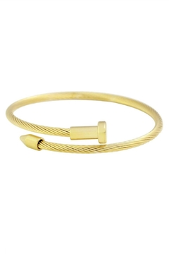 PlayHardLookDope Gold Nail Bracelet - Alternate List Image