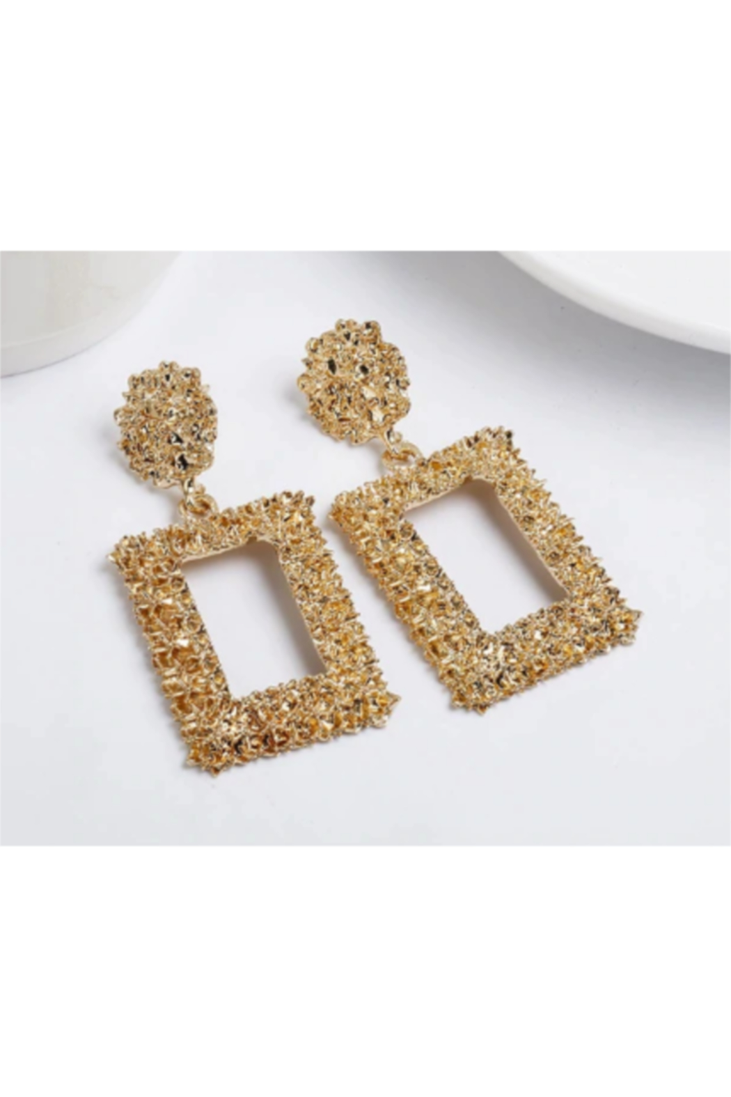 The Birds Nest GOLD NUGGET STATEMENT EARRINGS - Main Image