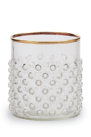 MudPie Gold Old Fashion Bubble Glass - Product Mini Image