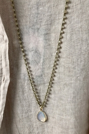 An Old Soul Jewelry Emerald of the South Pacific Necklace - Front full body