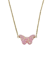 Lets Accessorize Gold Opal-Butterfly Necklace - Product Mini Image