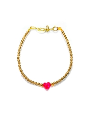 Lets Accessorize Gold Opal-Heart Bracelet - Product Mini Image