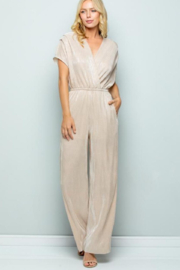 See and Be Seen Gold Party Jumpsuit - Product Mini Image