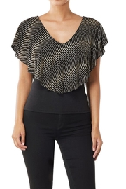Klaxons Gold Party Top - Product Mini Image