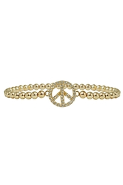 Jaimie Nicole Gold Peace-Sign Bracelet - Product Mini Image