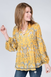 Ivy Jane Gold Peacock Top - Product Mini Image