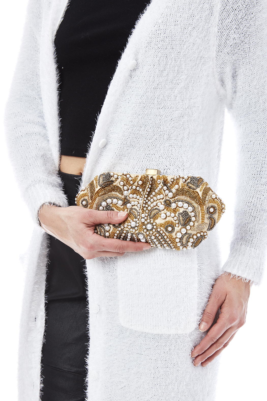 Santi Gold Pearl Clutch - Side Cropped Image