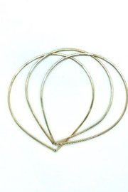 Lotus Jewelry Studio Gold Petal Bangles - Set of 3 - Front cropped