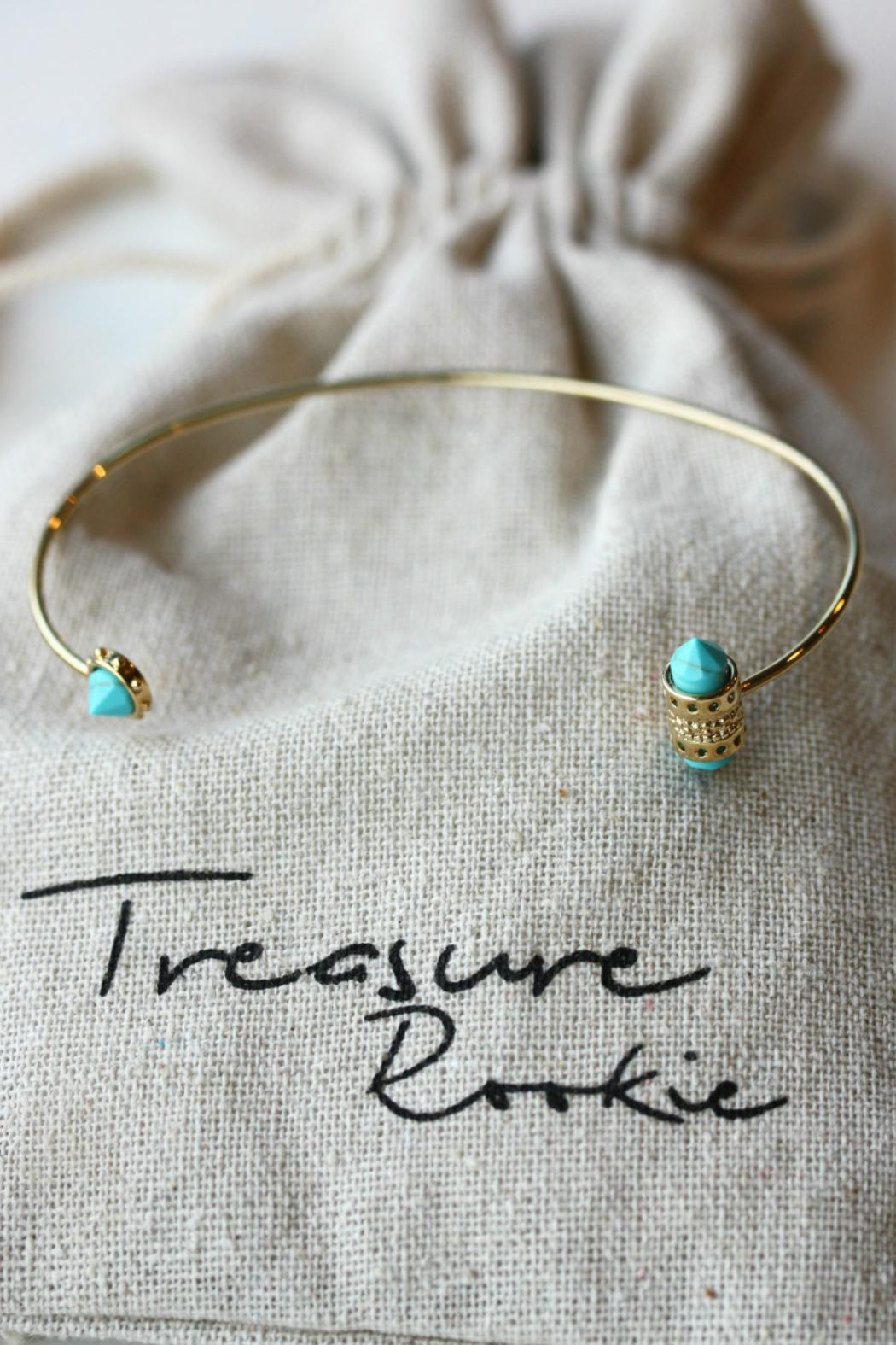 Treasure Rookie Gold Plated Bracelet - Back Cropped Image