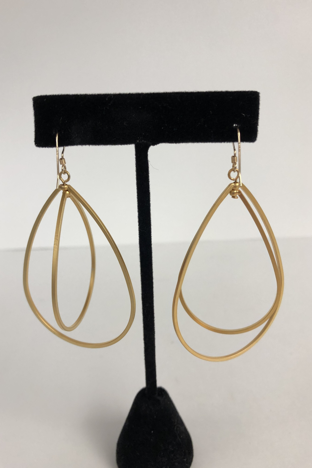 Toto Collection Gold Plated Drop Earrings - Side Cropped Image