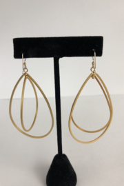 Toto Collection Gold Plated Drop Earrings - Side cropped
