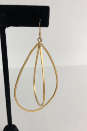 Toto Collection Gold Plated Drop Earrings - Front full body